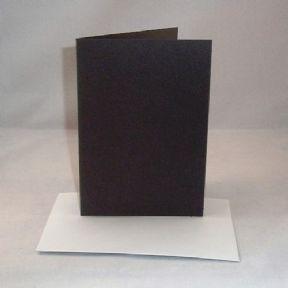 A4 Black Greeting Card Blanks With Envelopes